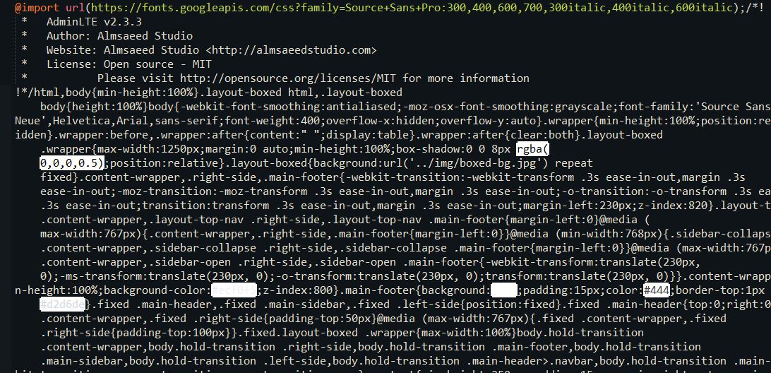 圧縮済CSS