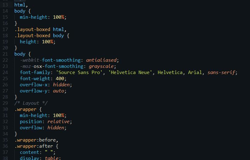 未圧縮CSS