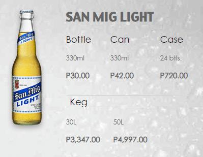 サンミゲルビールライトの価格