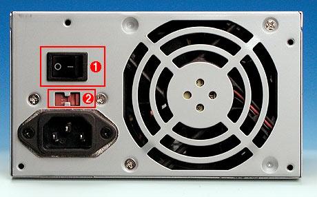 デスクトップPC変圧スイッチ